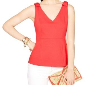 Kate Spade geranium dive right in peplum tank top